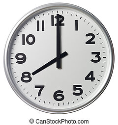 שמונה, o'clock