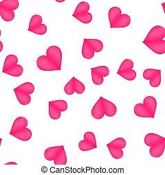 שמח, יום של ולנטיינים, רקע, עם, לבבות