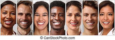 שמח, פנים של אנשים