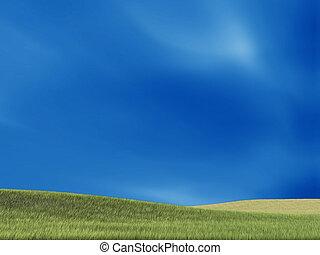 שמיים, ו, grass.