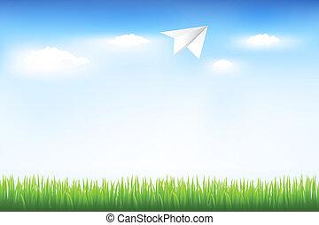 שמיים כחולים, ו, מטוס של נייר
