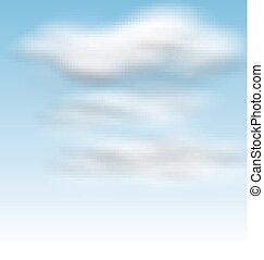 שמיים כחולים, נוצי, עננים, רקע