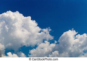 שמיים כחולים, עם, clouds.