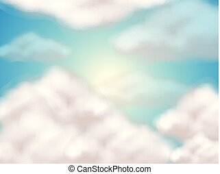 שמיים, נוצי, עננים, רקע