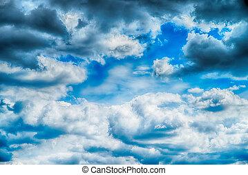 שמיים, עננים, אומנות, עלית שמש, רקע
