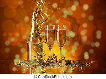 שמפנייה, שני, משקפיים