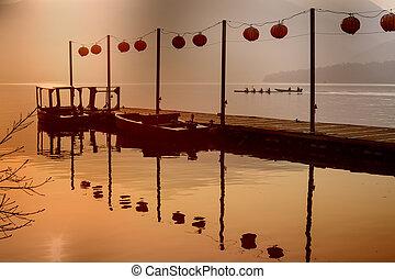 שמש, אגם, טייוואן, ירח