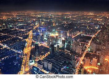 שנגהיי, לילה, השקפה של אנטנה