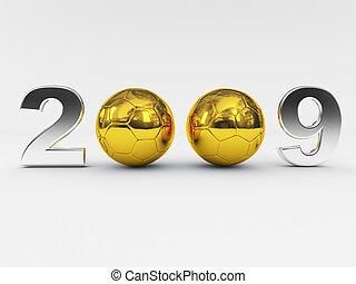 שנים, חדש, 2009, כדור, זהוב