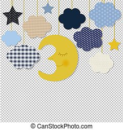 שקוף, גבול, רקע, כוכבים, ירח
