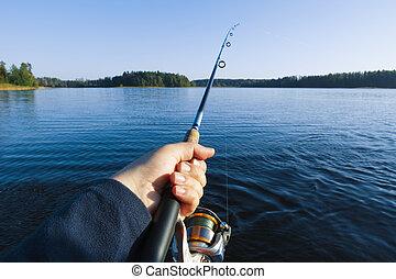 שקיעה, אגם דג
