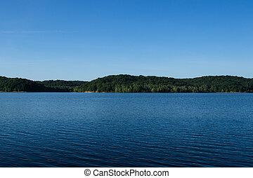 שקיעה, אגם