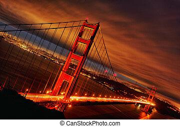 שקיעה, ב, גשר של שער זהוב