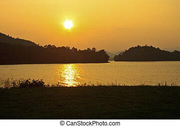 שקיעה, קמפינג, אגם, הארק