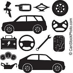שרות של מכונית