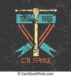 שרות של מכונית, סמל