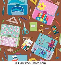 תבנית, בית ספר, seamless