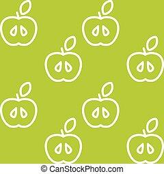 תבנית, וקטור, seamless, תפוח עץ