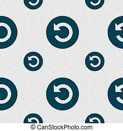 תבנית, חתום., seamless, וקטור, גיאומטרי, texture., איקון