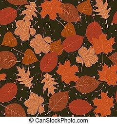 תבנית, עוזב, עצים, seamless, צבעוני