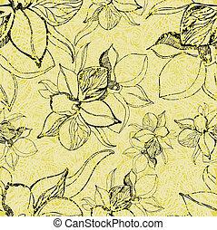 תבנית, פרחים, גראנג