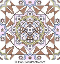 תבנית קישוטית, seamless, בציר, מסגרות, ערבי, סיבוב