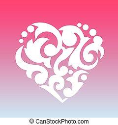תבנית, heart., יסוד, ל, שלך, design.