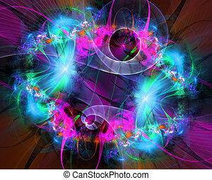 תבנית, lights., מואר, מבריק, מחשב, אסכלה, יצור