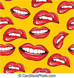 תבנית, seamless, שפתיים