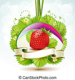 תות שדה, עם, עלים