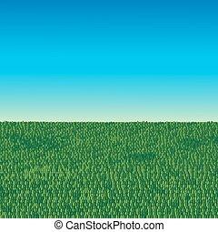 תחום ירוק, וכחול, שמיים, רקע