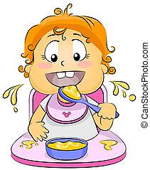 תינוק אוכל