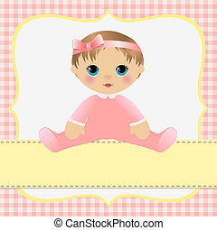תינוק, חמוד, דפוסית, כרטיס
