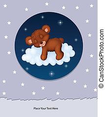 תינוק יולד, ענן, לישון