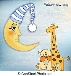 תינוק, קבלת פנים, דש, כרטיס