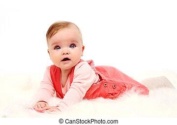תינוק, month), ילדה, (6