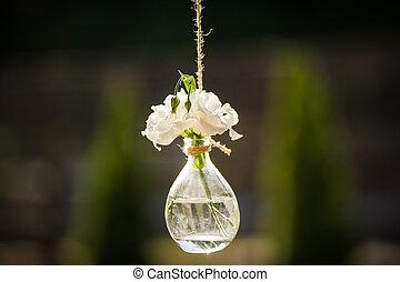 תפאורה, פרחים, boho, חתונה