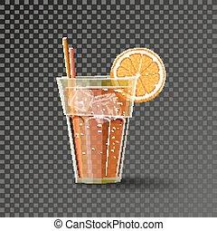 תפוז, כוס, שתה