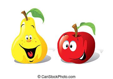 תפוח עץ, ו, אגס