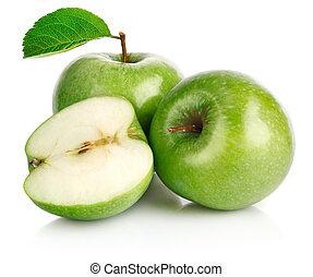 תפוח עץ ירוק, פירות, עם, דפדף