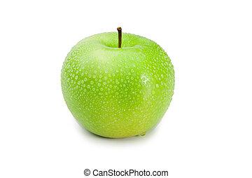 תפוח עץ, ירוק, רטוב