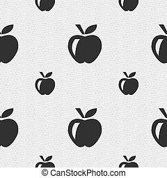 תפוח עץ, תבנית, חתום., seamless, וקטור, גיאומטרי, texture., איקון
