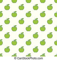 תפוח עץ, תבנית, seamless, apples., רקע., וקטור, ירוק