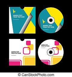 תקליטור, כסה, עצב, ל, שלך, עסק