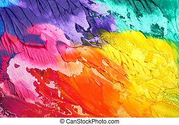 תקציר, אקרילי, צבע, רקע