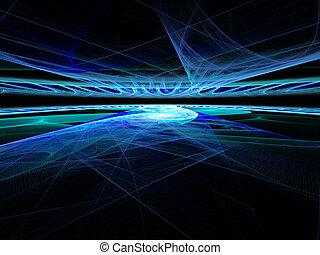 תקציר, באופן דיגיטלי, השב, אופק, כיפארספאך, fractal., טוב,...