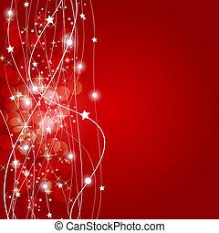 תקציר, חג המולד, רקע אדום, וקטור, דוגמה
