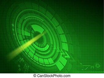 תקציר, חושך, קרן, רקע ירוק, טכנולוגיה, דמות