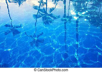 תקציר, כחול, ים, קיץ, רקע