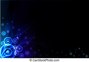 תקציר, כחול, רקע., וקטור